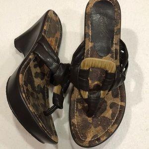 Carlos Santana women's wedge heels sandals 9